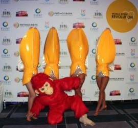 шоу балет, шик балет обезьяна с бананами на новый год