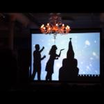 шоу теней, театр теней - постановка номера с сотрудниками компании.